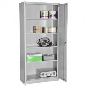 Vue d'ensemble de l'armoire portes battantes H180cm gamme budget portes ouvertes avec accessoires