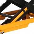 zoom des barres anti chutes de la table élévatrice mobile