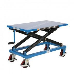 Vue d'ensemble de la Table élévatrice mobile à manivelle