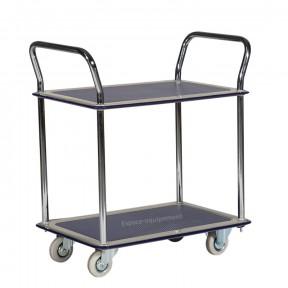 Chariot 2 plateaux antidérapants capacité 120 Kg