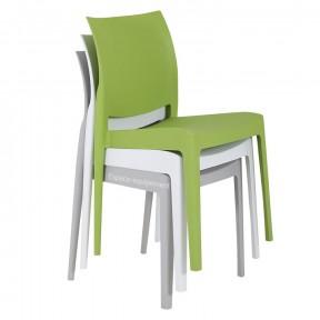 chaises professionnelles en polypropylène